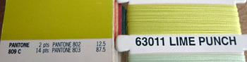 Pantone 809C wordt benaderd door Lime Punch kleur garen
